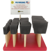 Poly-Sponge Brush Assortment With Counter Display-2.5cm , 5.1cm , 7.6cm & 10cm Widths