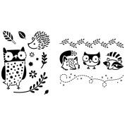 Artist's Paintstiks Designmagic Stencils 2/Pkg-Oliver Owl & Friends