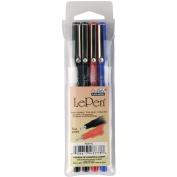 Le Pens .03mm Point 4/Pkg-Basic