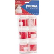 Preval 90ml Plastic Bottles, 6-Pack