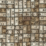 Eclectic Elements-Tim Holtz 110cm 100% Cotton D/R-Measurement-Taupe