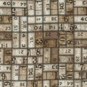 Eclectic Elements-Tim Holtz 110cm 100% Cotton D/R-Measurement-Taupe
