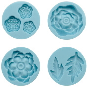 Martha Stewart Crafter's Clay Silicon Moulds 4/Pkg-Cheerful Flower