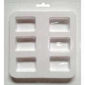 Cool2Cast 2.5cm x 3.8cm Rectangles Mould, 6-Cavity