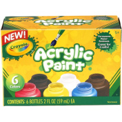 Crayola Acrylic Paint Set 60ml 6/Pkg