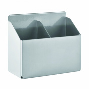 STEELMASTER Slot System Double Pencil Cup Only, 5.31 x 12cm x 7.3cm , 1 Double Cup, Silver
