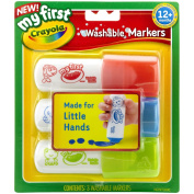 My First Crayola Washable Easy Grip Markers 3pc-Red, Blue And Green