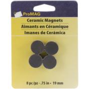 Round Ceramic Magnets 8/Pkg-.190cm