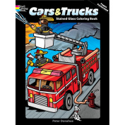 Dover Publications-Cars & Trucks Stained Glass Book