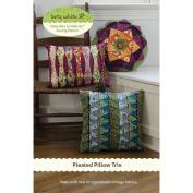 Betz White Patterns-Pleated Pillow Trio