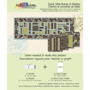 Fabric Editions Design Sheet/Project Card-Trendy Neutral Tablerunner