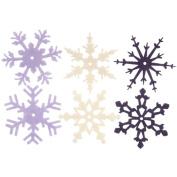 Large Felt Snowflakes 5.1cm 24/Pkg-Heritage Winter