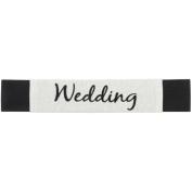 Embroidered Wedding ScrapBand-Vintage Ivory Fabric/Black Elastic
