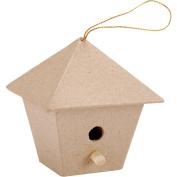 Paper-Mache Square Birdhouse-7.6cm x 7cm X1.190cm