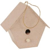 Paper-Mache Tapered Birdhouse-8.3cm x 7.6cm X1.190cm