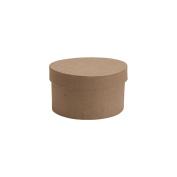 Paper-Mache Small Round Box-10cm x 10cm X2.320cm