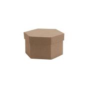Paper-Mache Small Hexagon Box-10cm x 10cm X1.320cm