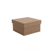 Paper-Mache Small Square Box-10cm x 10cm X2.320cm