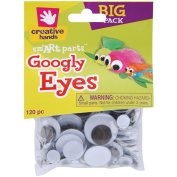 Glue-On Googly Eyes Assorted 5-30mm 120/Pkg-Black