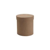 "Paper-Mache Tall Round Box-7.6cm x 7.6cm X3"""