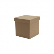 Paper-Mache Tall Square Box-7.6cm x 7.6cm X3""