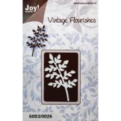 Joy! Crafts Cutting Die-Vintage Flourishes/Branch, 6.4cm x 3.8cm