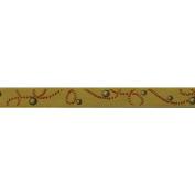 Galon Akoya Braid Ribbon 1cm X27 Yards-Mustard
