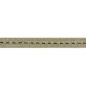 Galon Couture Braid Ribbon 1.3cm X27 Yards-Linen/Black