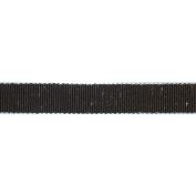 Ruban Scintilla Ribbon 1.6cm X27 Yards-Brown/Silver