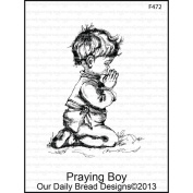 Our Daily Bread Cling Rubber Stamp 9.5cm x 15cm -Praying Boy