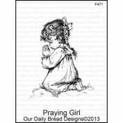Our Daily Bread Cling Rubber Stamp 9.5cm x 15cm -Praying Girl