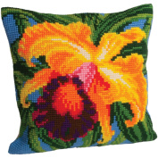 Orchidee Du Paradis Pillow Cross Stitch Kit-38cm - 1.9cm x 40cm