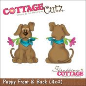 CottageCutz Die 10cm x 10cm -Puppy Front & Back