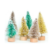 Merry Little Christmas Mini Christmas Trees 6/Pkg-Retro