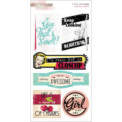Cashmere Dame Cardstock Stickers 15cm x 28cm -Titles