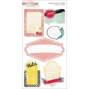 Cashmere Dame Cardstock Stickers 15cm x 28cm -Journaling