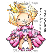 La-La Land Cling Mount Rubber Stamps 10cm x 7.6cm -Sitting Princess Marci