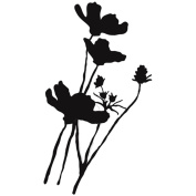 Donna Downey Unmounted Rubber Stamps 10cm x 18cm -Wild Poppy Silhouette