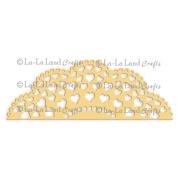 La-La Land Border Die-Heart Doily, 13cm x 5.1cm