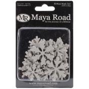 Mini Chipboard Set 30/Pkg-Snowflakes, .20cm To 5.6cm