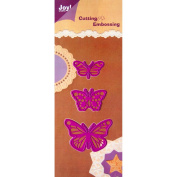 Joy! Crafts Cut & Emboss Die-Butterflies, .2220cm To 5.7cm