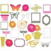 Blomma Die-Cuts 25/Pkg-Embellishments