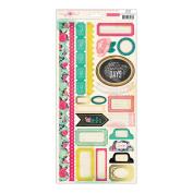 Flea Market Cardstock Stickers 15cm x 30cm -Borders & Accents