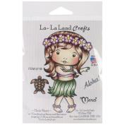 La-La Land Cling Mount Rubber Stamps 10cm x 7.6cm -Hula Marci