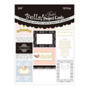Bella! Wedding Project Cards Die-Cuts 7.6cm x 10cm 18/Pkg-With Foil Accents