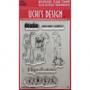 Uchi's Design Bilingual Clear Stamp Set 10cm x 15cm Sheet-Fall