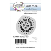 Deep Etch Red Rubber Stamp 3.8cm x 3.8cm -It's Your Day