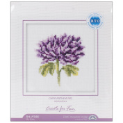 Chrysanthemums Counted Cross Stitch Kit-10cm x 10cm 14 Count