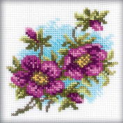 Hellebore Counted Cross Stitch Kit-10cm x 10cm 14 Count
