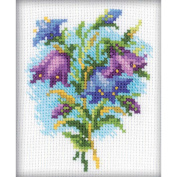 Bluebells Counted Cross Stitch Kit-10cm x 10cm 14 Count